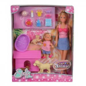 Кукла и Еви с собачками Steffi