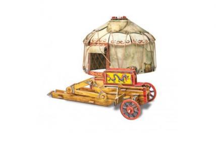 Сборная игрушка из картона Осадный лагерь кочевников Умная бумага