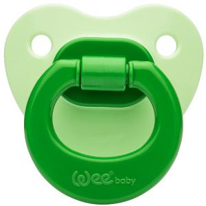 Соска-пустышка Weebaby ортодонтическая матовая, от 18 мес., зеленая