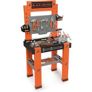 Игровой набор  Black&Decker Мастерская с инструментами, 79 предметов Smoby. Цвет: оранжевый/черный