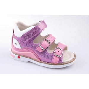 Сандалии  для девочки Minimen. Цвет: розовый