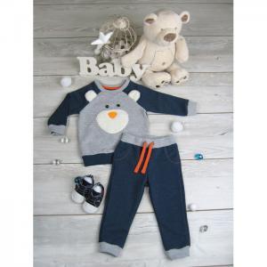 Костюм для мальчика (джемпер и брюки) Веселые медведи Soni Kids