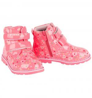 Ботинки , цвет: розовый Счастливый Ребенок