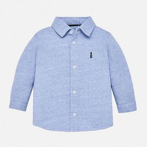 Рубашка Mayoral. Цвет: голубой