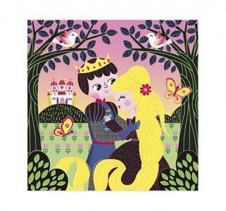 Мозаика из пайеток  Рапунцель картина стилом Janod