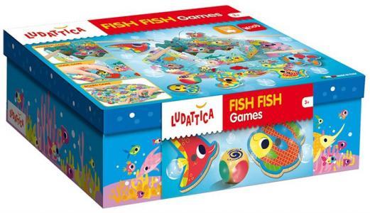 Игра настольная Веселая рыбалка (3 в 1) Ludattica