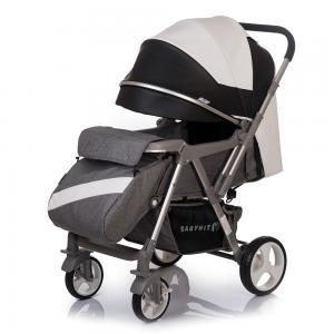 Прогулочная коляска  Sense eco, цвет: белый/черный BabyHit