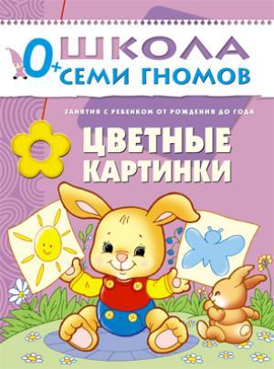 Книга развивающая  Цветные картинки 0+ Школа Семи Гномов