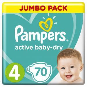 Подгузники Active Baby Maxi р.4 (9-14 кг) 70 шт. Pampers
