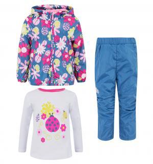 Комплект куртка/брюки/джемпер , цвет: розовый/синий Bony Kids