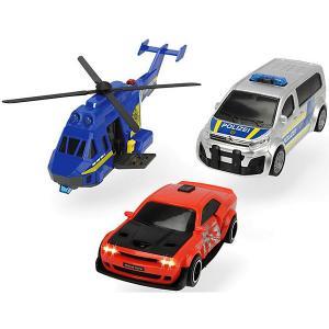 Игровой набор  Полицейская погоня, свет и звук Dickie Toys. Цвет: разноцветный