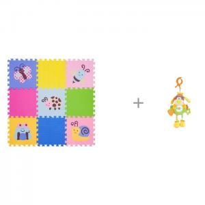 Игровой коврик  12 Окружающий Мир, толщина 15мм и Подвесная игрушка Жирафики Веселый щенок FunKids