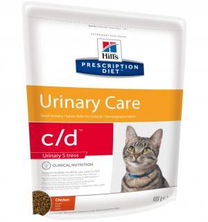 Сухой диетический корм Hills Prescription Diet c/d для взрослых кошек при урологическом стресс-синдроме, курица, 400г Hill's