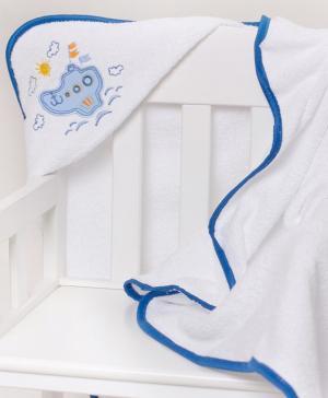 Полотенце уголок с вышивкой Кораблик Мой Ангелочек
