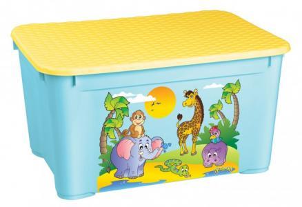 Ящик для игрушек 555х390х290 мм с аппликацией Пластишка