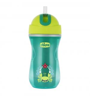 Чашка-поильник  Sport Cup с трубочкой, цвет: зеленый Chicco
