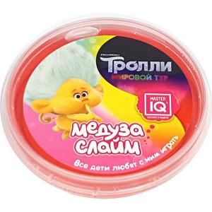 Слайм-Медуза  Тролли в шайбе, 75 гр Master IQ2. Цвет: разноцветный