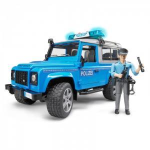 Внедорожник Land Rover Defender Station Wagon полицейский с фигуркой 02-597 Bruder
