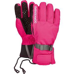 Перчатки FIVE  для девочки DIDRIKSONS. Цвет: розовый