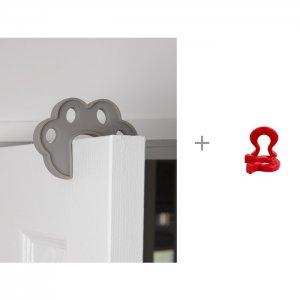 Блокатор межкомнатных дверей с набором подков безопасности Baby Safety Clippasafe
