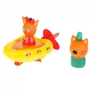 Игрушка пластизоль Три кота Лодка, Компот и Карамелька Капитошка