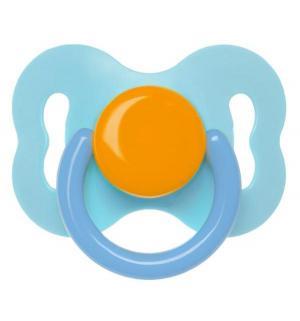 Пустышка  Бантик латекс, с рождения, цвет: синий/голубой Курносики