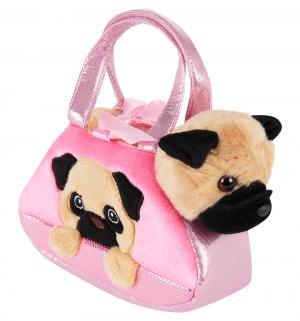 Мягкая игрушка  Собачка в сумке 20 см Aurora
