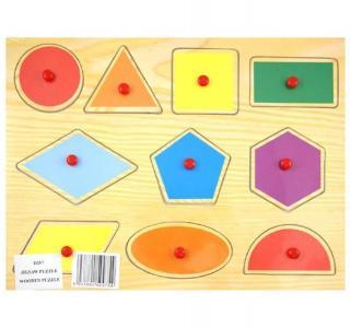 Сборная деревянная модель  Геометрические фигуры Wooden Toys