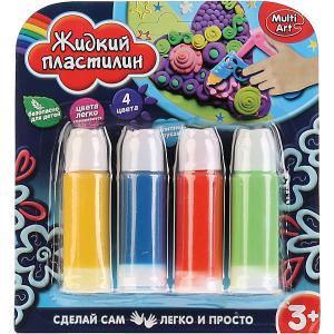 Набор жидкого пластилина MultiArt, 4 цвета Multiart. Цвет: разноцветный
