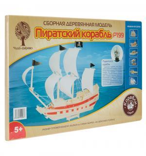 Сборная деревянная модель  Пиратский корабль Wooden Toys