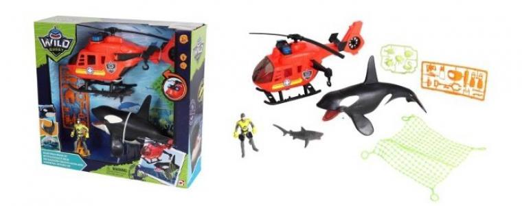 Игровой набор Касатка с вертолетом Chap Mei