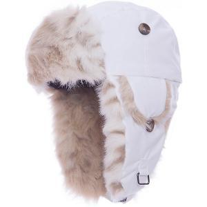Шапка-ушанка  Kaspar для девочки Huppa. Цвет: белый
