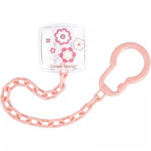 Клипса-держатель для пустышек, 0+ Newborn baby, , розовый Canpol Babies