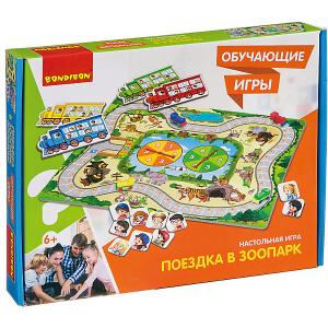 Настольная игра  Обучающие игры Поездка в зоопарк Bondibon
