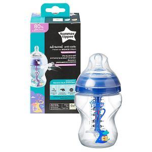 Бутылочка для кормления  Advanced с усиленным антиколиковым клапаном и индикатором температуры, 260 мл., Tommee Tippee. Цвет: разноцветный