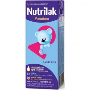 Молочная смесь  Premium + 2 адаптированная 6-12 месяцев, 200 г Nutrilak