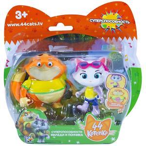 Игровой набор  44 котёнка Миледи и Пончик с суперспособностями Rainbow. Цвет: оранжевый/белый