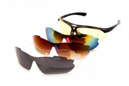 Солнцезащитные очки  спортивные с 5 сменными линзами Bradex