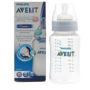Бутылочка Classic+, 330 мл, 3мес+ , Philips Avent