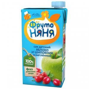 Сок  яблоко-шиповник, 500 мл ФрутоНяня