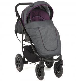 Прогулочная коляска  Panda, цвет: темно-серый/фиолетовый Prampol