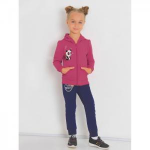 Костюм для девочки с шелкографией (толстовка, брюки) Стейси Ивашка