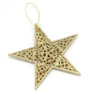Подвесное украшение  Звезда плоская Яркий Праздник