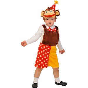 Карнавальный костюм  Шимпанзёнок из цирка Карнавалофф. Цвет: разноцветный