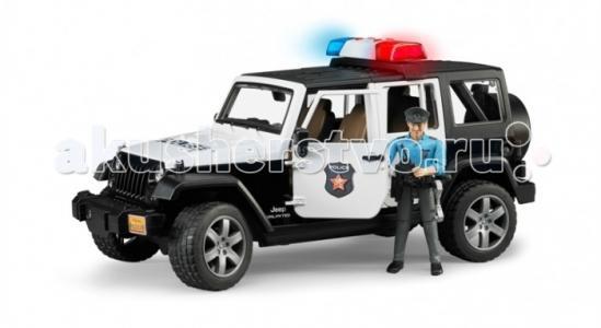 Внедорожник Jeep Wrangler Unlimited Rubicon Полиция с фигуркой Bruder