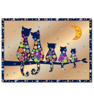 Набор для создания картины  Семья котов Клевер