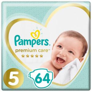 Подгузники Premium Care Junior р.5 (11+ кг) 64 шт. Pampers