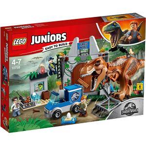 Конструктор  Juniors 10757: Грузовик спасателей для перевозки раптора LEGO