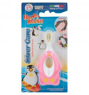 Зубная щетка  Happy Brush мягкая, цвет: розовый Silver Care