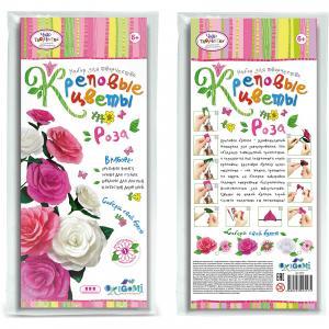 Креповые цветы своими руками Роза Чудо-Творчество